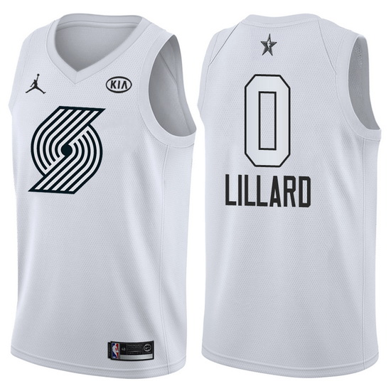 Canotte basket NBA bianco Damian Lillard 2018 All Star