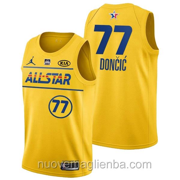 Canotte basket NBA giallo Luka Doncic 2021 All Star