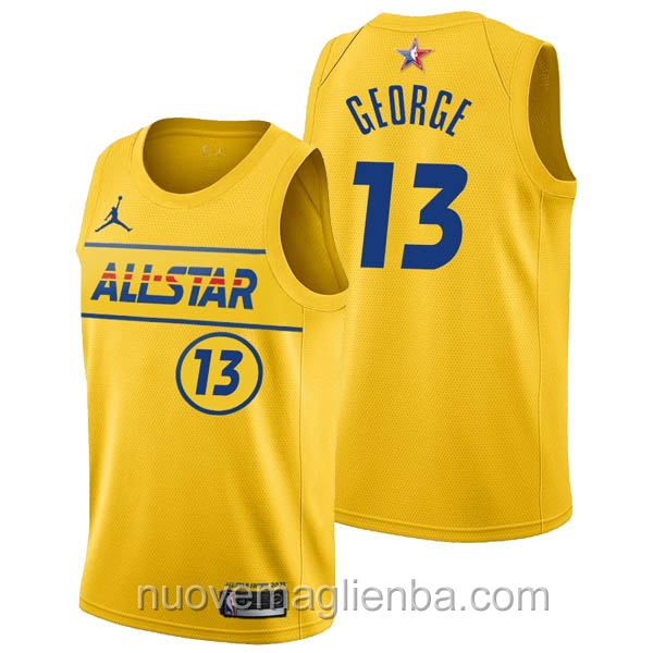 Canotte basket NBA giallo Paul George 2021 All Star