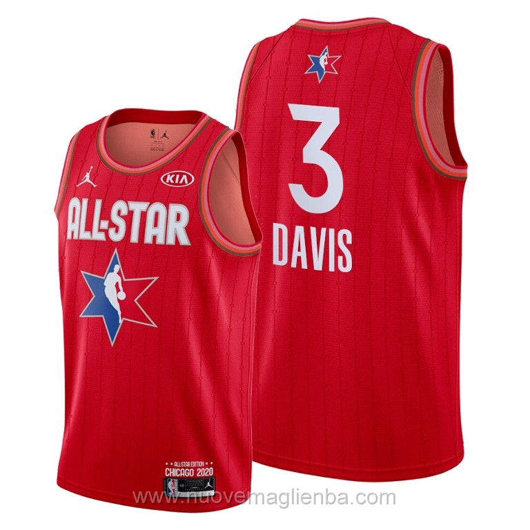 Canotte basket NBA rosso Anthony Davis 2020 All Star