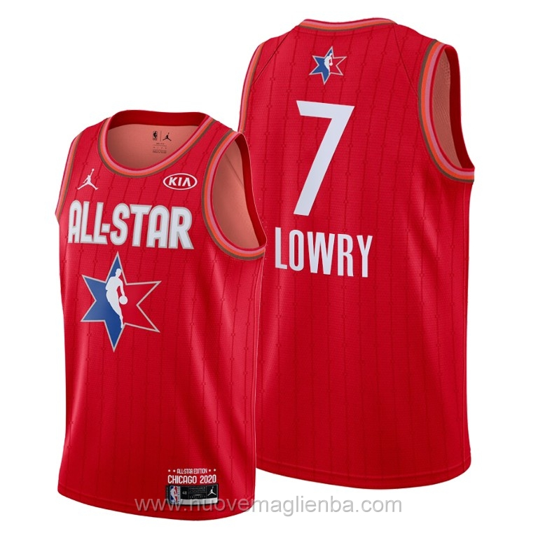 Canotte basket NBA rosso Kyle Lowry 2020 All Star