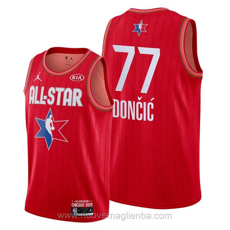 Canotte basket NBA rosso Luka Doncic 2020 All Star