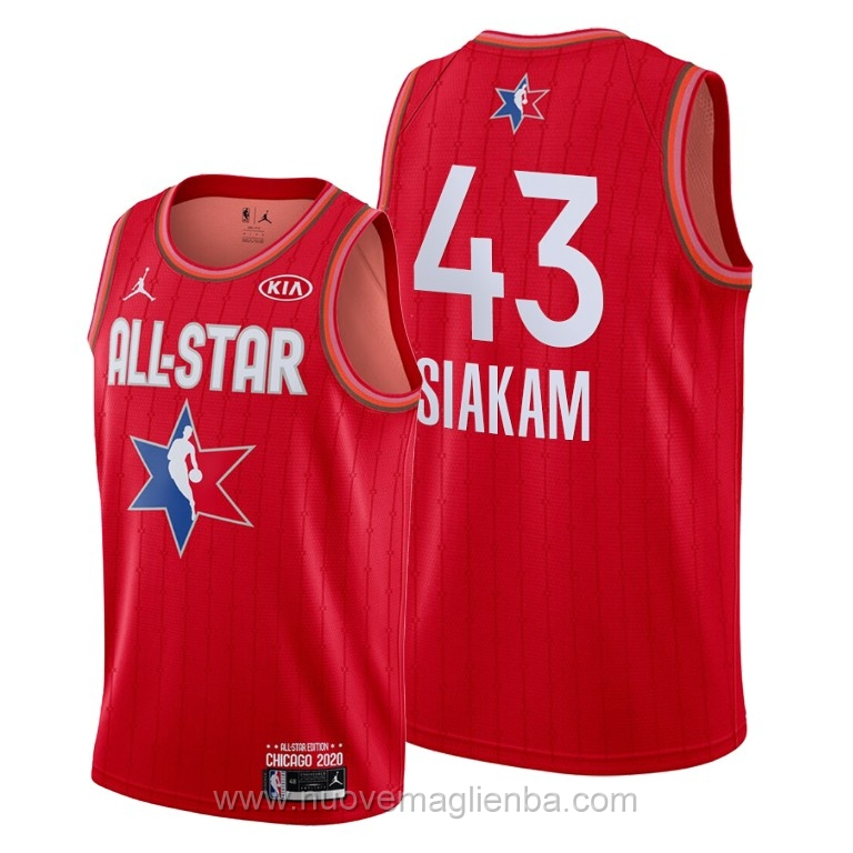 Canotte basket NBA rosso Pascal Siakam 2020 All Star