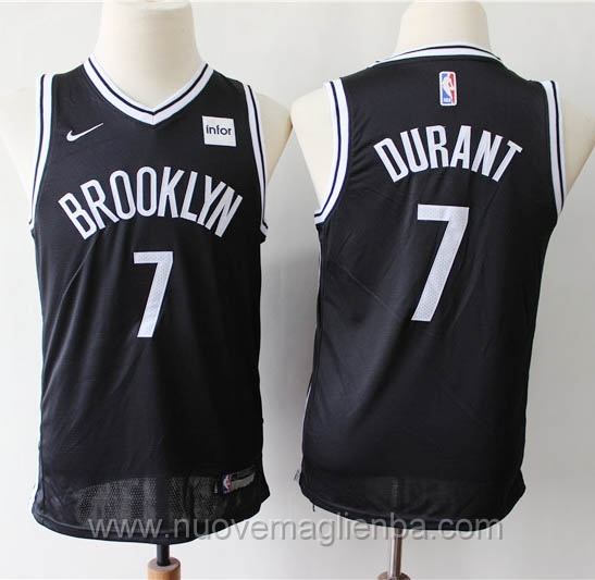 Canotte basket bambini nero Kevin Durant Brooklyn Nets