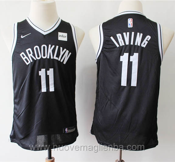 Canotte basket bambini nero kyrie Irving Brooklyn Nets