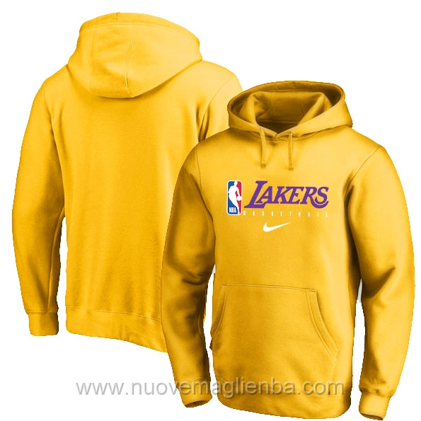 Felpe basket NBA Giallo Los Angeles Lakers poco prezzo 2019-20
