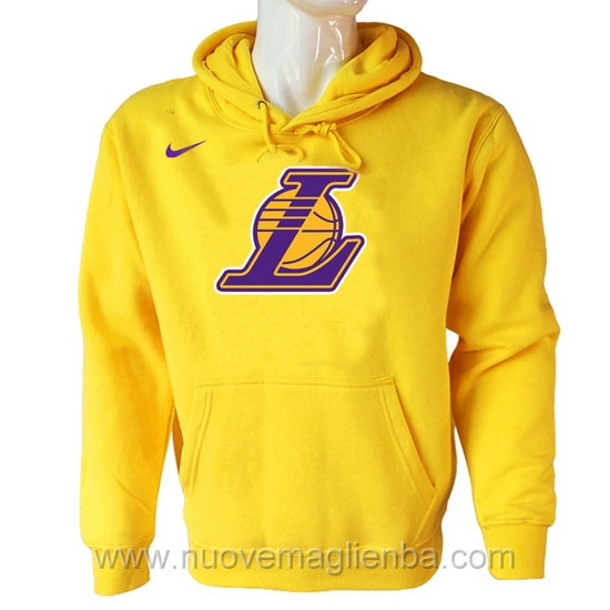 Felpe basket NBA Giallo QZ001ZQ Los Angeles Lakers poco prezzo