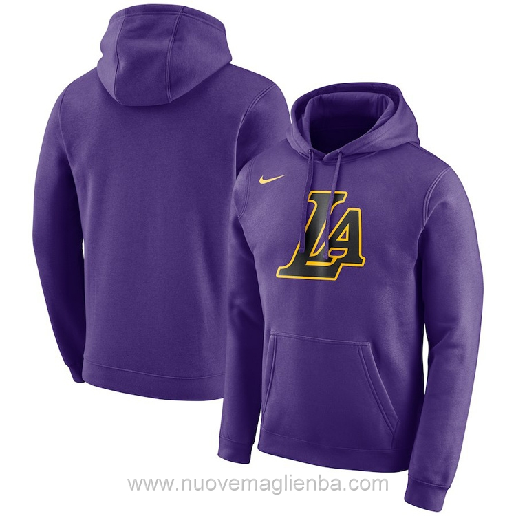 Felpe basket NBA nike porpora Los Angeles Lakers poco prezzo