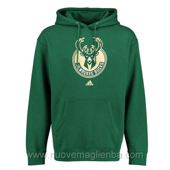 Felpe basket NBA verde Milwaukee Bucks poco prezzo