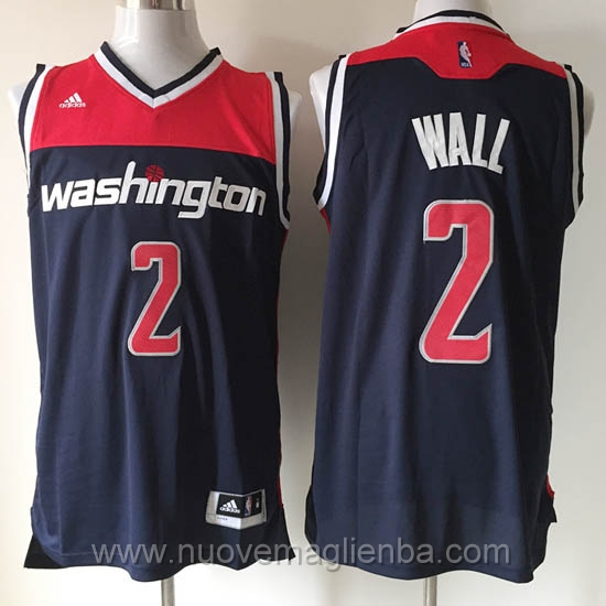 Maglie basket NBA Blu scuro John Wall Washington Wizards