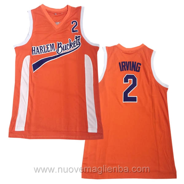 nuove maglie NBA per nike arancione #2 Irving Harlem Buckets