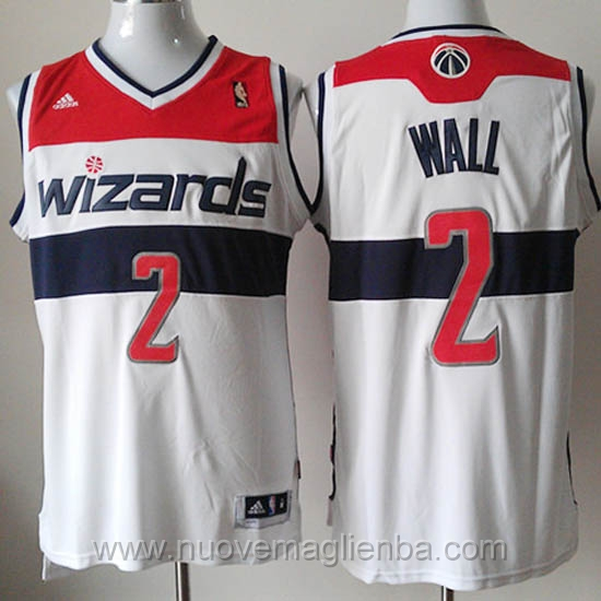 Maglie basket NBA bianco John Wall Washington Wizards