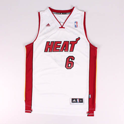 Maglie basket nba bianco Nickname King James LeBron James Miam Heat
