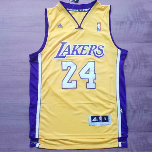 Maglie basket nba giallo Nickname Black Mamba Kobe Bryant Los Angeles Lakers