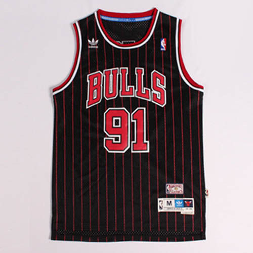 Maglie basket nba nero rosso Nickname The Worm Dennis Rodman Chicago Bulls