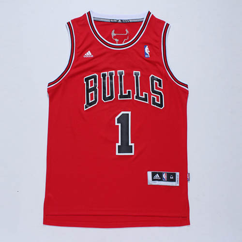 Maglie basket nba rosso Nickname D-ROSE Derrick Rose Chicago Bulls