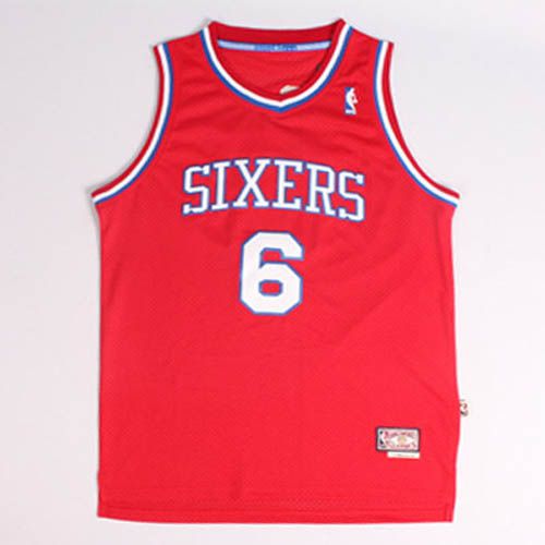 Maglie basket nba rosso Nickname DR.J Julius Erving Philadelphia 76ers
