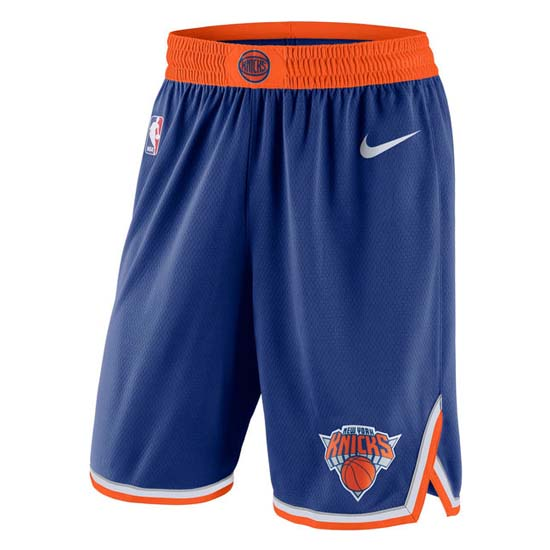 pantaloncini nba poco prezzo blu New York Knicks 2018