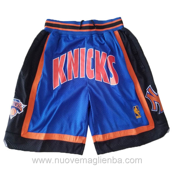 pantaloncini nba poco prezzo blu New York Knicks Just Don 1996-97
