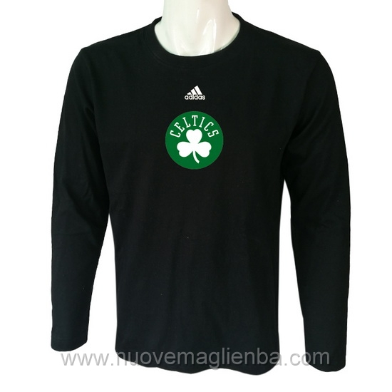 T shirt manica lunga NBA poco prezzo WE001EW nero Boston Celtics