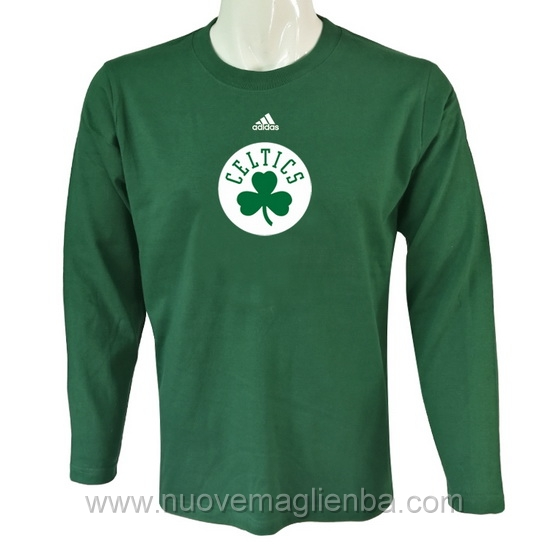 T shirt manica lunga NBA poco prezzo WE001EW verde Boston Celtics