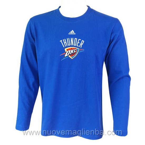 T shirt manica lunga NBA poco prezzo WE005EW blu Oklahoma City Thunder