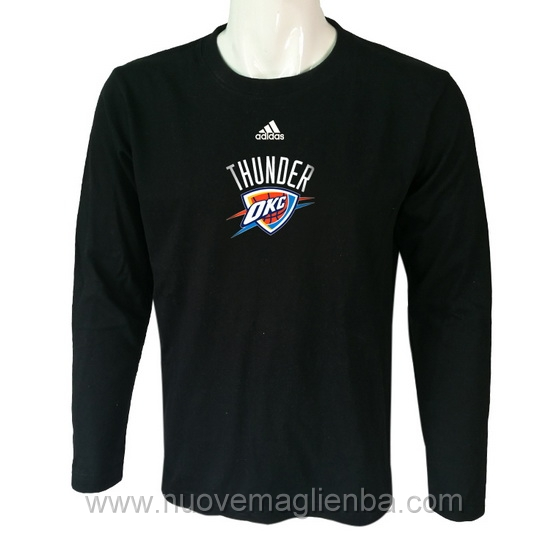 T shirt manica lunga NBA poco prezzo WE005EW nero Oklahoma City Thunder