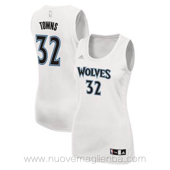 canotta basket donna bianco Karl-Anthony Towns Minnesota Timberwolves