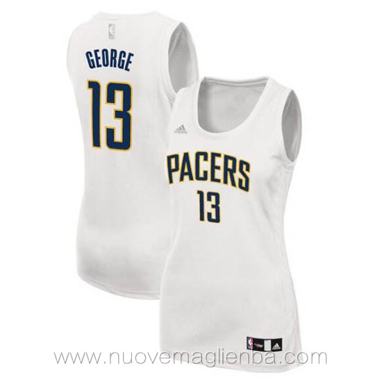 canotta basket donna bianco Paul George Indiana Pacers