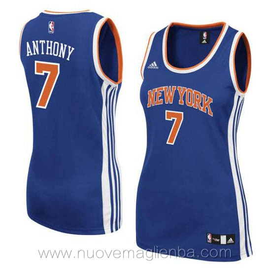 canotta basket donna blu Carmelo Anthony New York Knicks