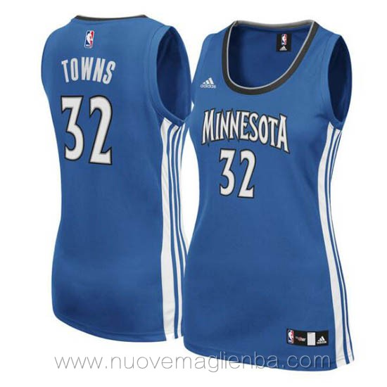 canotta basket donna blu Karl-Anthony Towns Minnesota Timberwolves