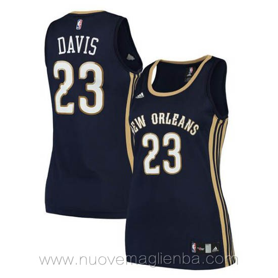 canotta basket donna blu scuro Anthony Davis New Orleans Pelicans