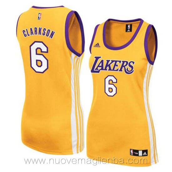 canotta basket donna giallo Jordan Clarkson Los Angeles Lakers