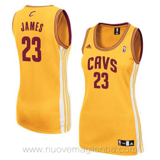 canotta basket donna giallo LeBron James Cleveland Cavaliers
