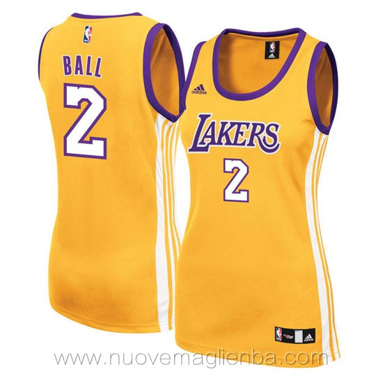 canotta basket donna giallo Lonzo Ball Los Angeles Lakers