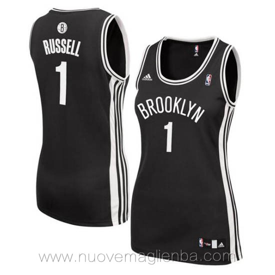canotta basket donna nero D'Angelo Russell Brooklyn Nets