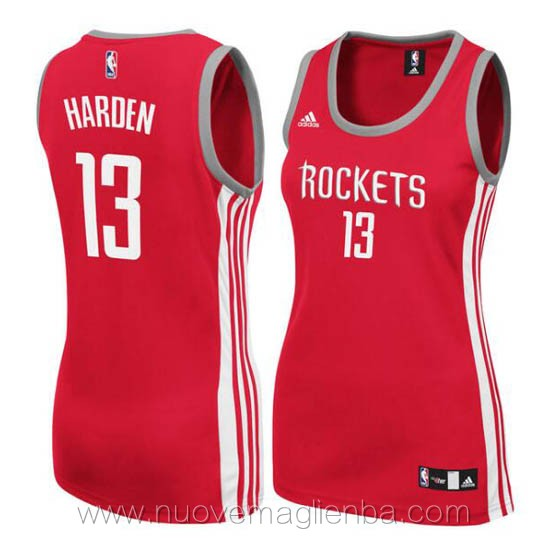 canotta basket donna rosso James Harden Houston Rockets