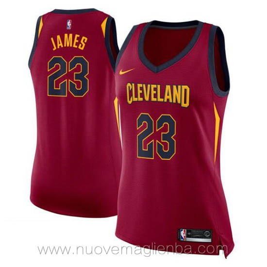 canotta basket donna rosso LeBron James Cleveland Cavaliers