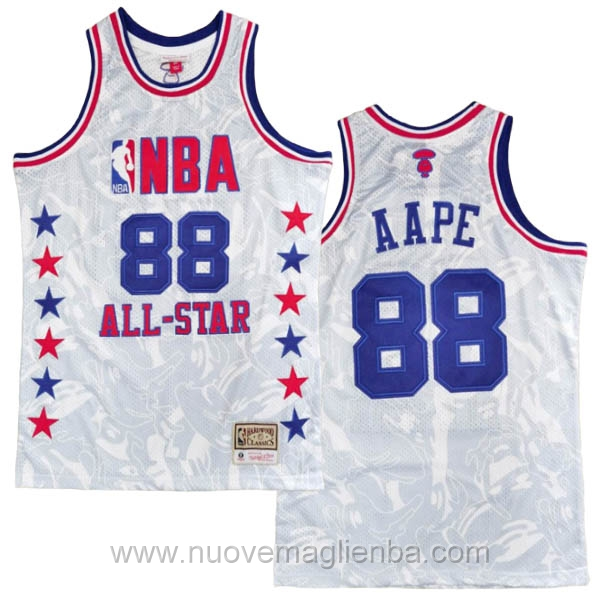 canotte basket NBA bianco AAPE x MITCHELL & NESS Nome comune 1988 All-Star