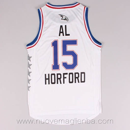 canotte basket NBA bianco AL Horford 2015 All Star