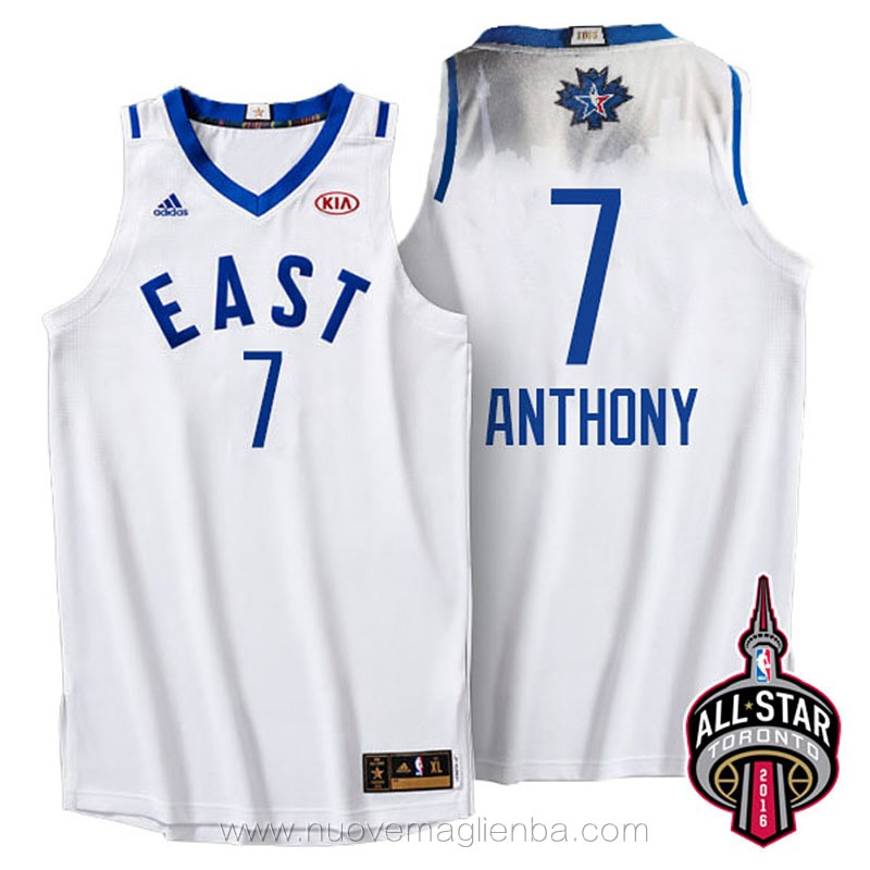 canotte basket NBA bianco Carmelo Anthony 2016 All Star