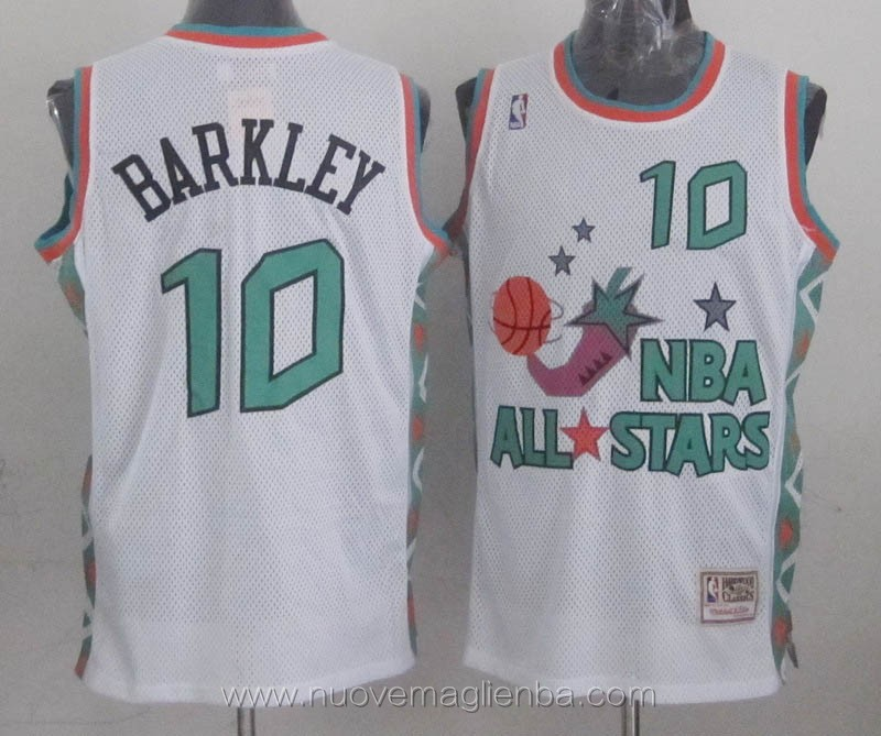 canotte basket NBA bianco Charles Barkley 1996 All Star