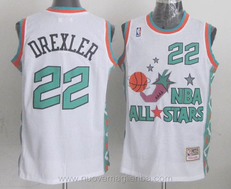 canotte basket NBA bianco Clyde Drexler 1996 All Star