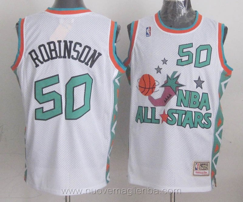 canotte basket NBA bianco David Robinson 1996 All Star