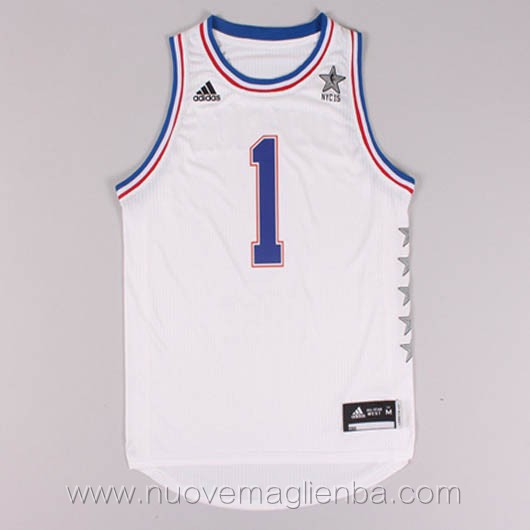 canotte basket NBA bianco Derrick Rose 2015 All Star
