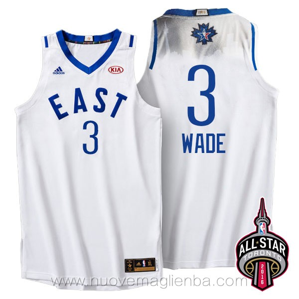 canotte basket NBA bianco Dwyane Wade 2016 All Star