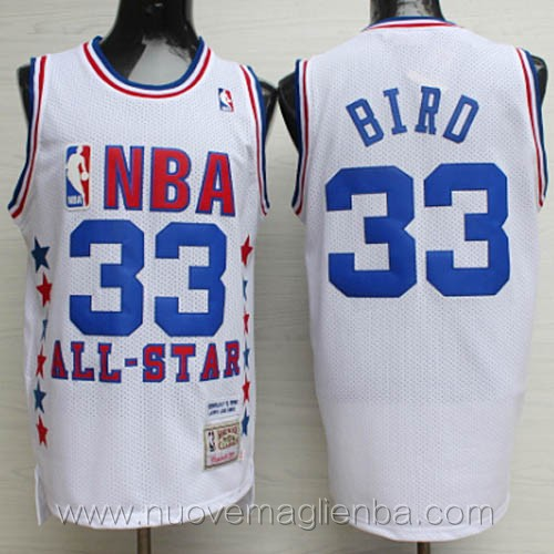 canotte basket NBA bianco Larry Bird 2003 All Star
