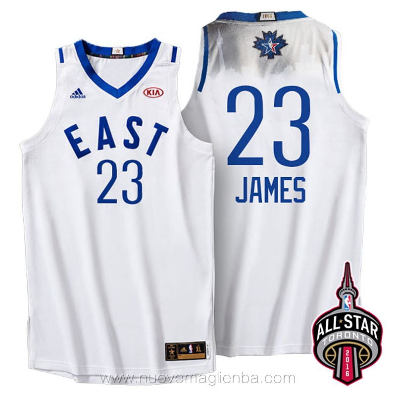 canotte basket NBA bianco Lebron James 2016 All Star