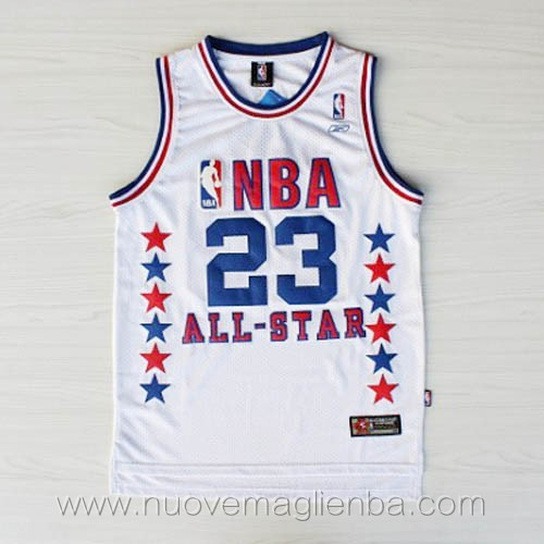 canotte basket NBA bianco Michael Jordan 2003 All Star