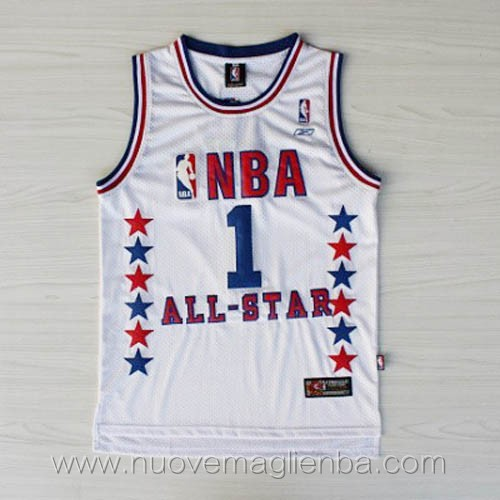 canotte basket NBA bianco Tim Mcgrady 2003 All Star